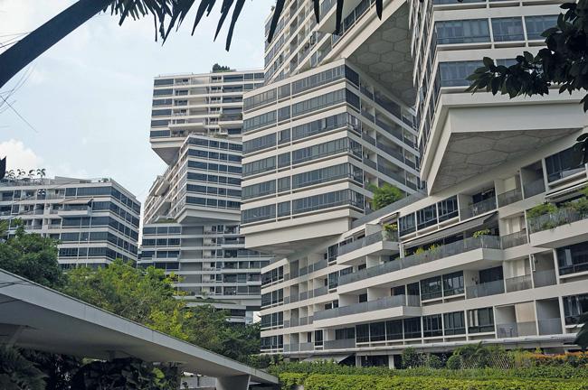 Gebäude-Ensemble in Singapur