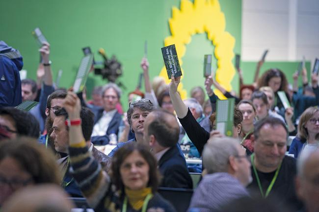 Bundesdelegiertenkonferenz der Grünen im November 2019