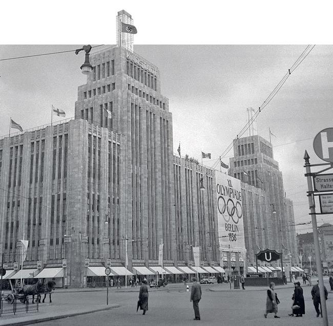 Karstadt-Gebäude im Sommer 1936