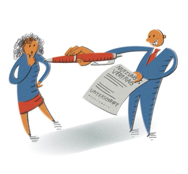 Illustration zum Nutzungsvertrag
