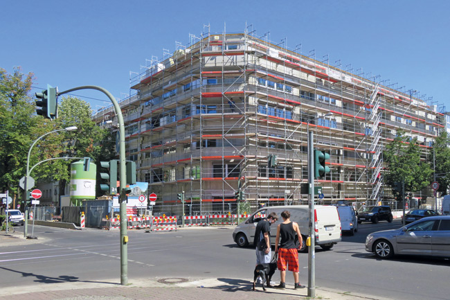 Neubau an der Weißenseer Langhansstraße 28