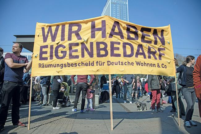 Protest gegen Deutsche wohnen