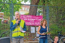 Aktion der Kreuzberger Initiative