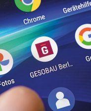 Gesobau-App auf dem Smartphone-Display