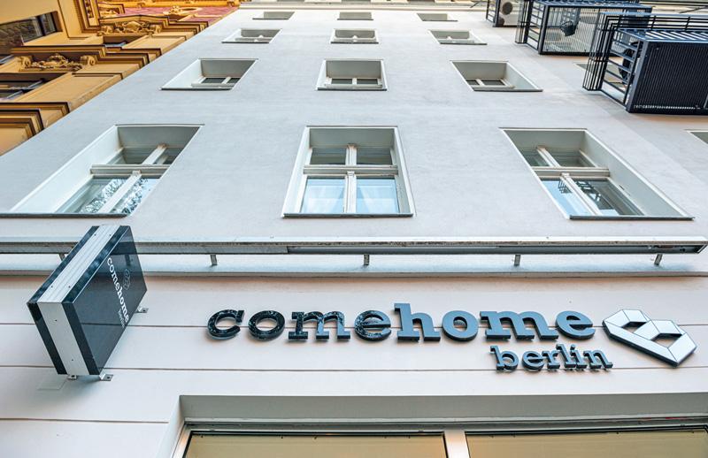 Schriftzug am ComeHome-Büro