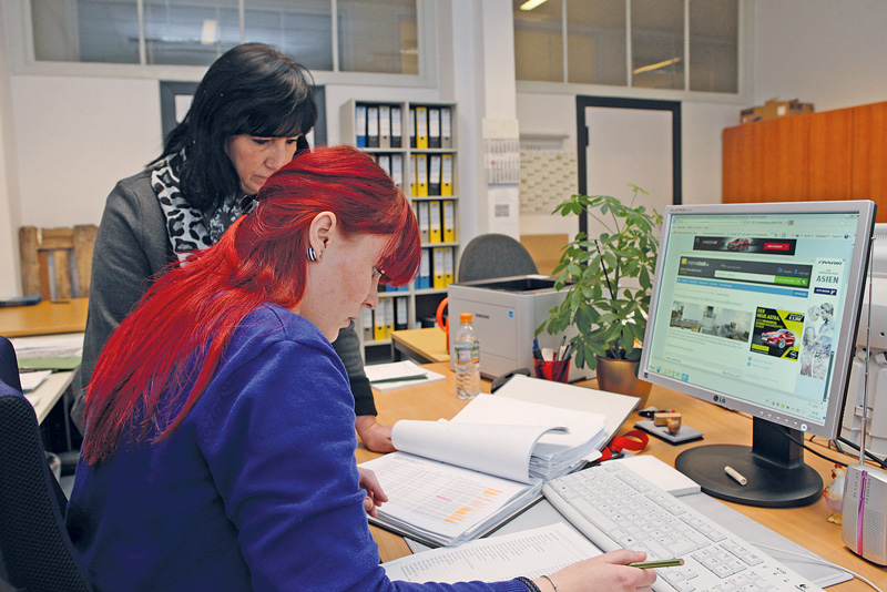 Mitarbeiterinnen im Bezirksamt Mitte