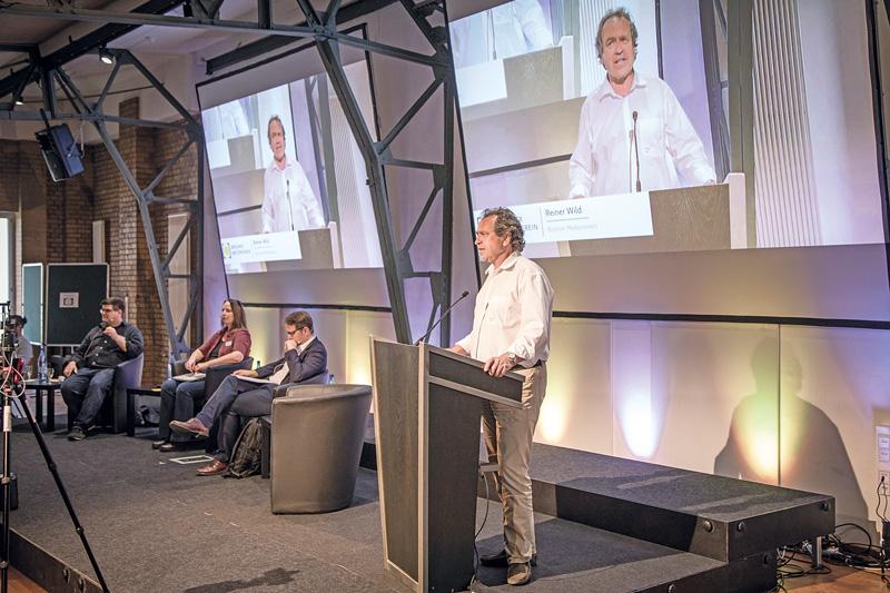 BMV-Geschäftsführer Reiner Wild beim Forum Wohnungspolitik