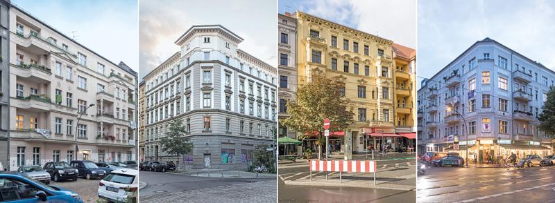 Vier von 146 Heimstaden-Häusern in Berlin