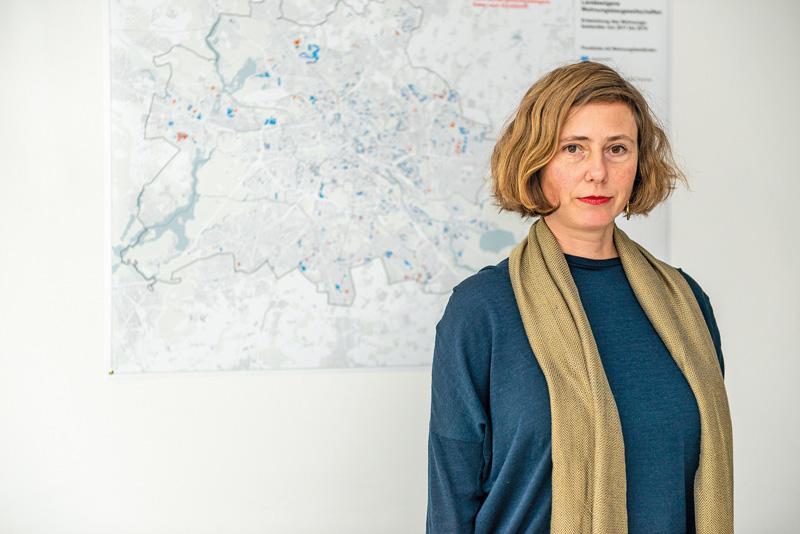 Ulrike Hamann von der Wohnraumversorgung Berlin