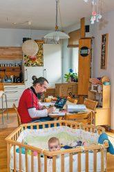 Homeoffice und Babybetreung