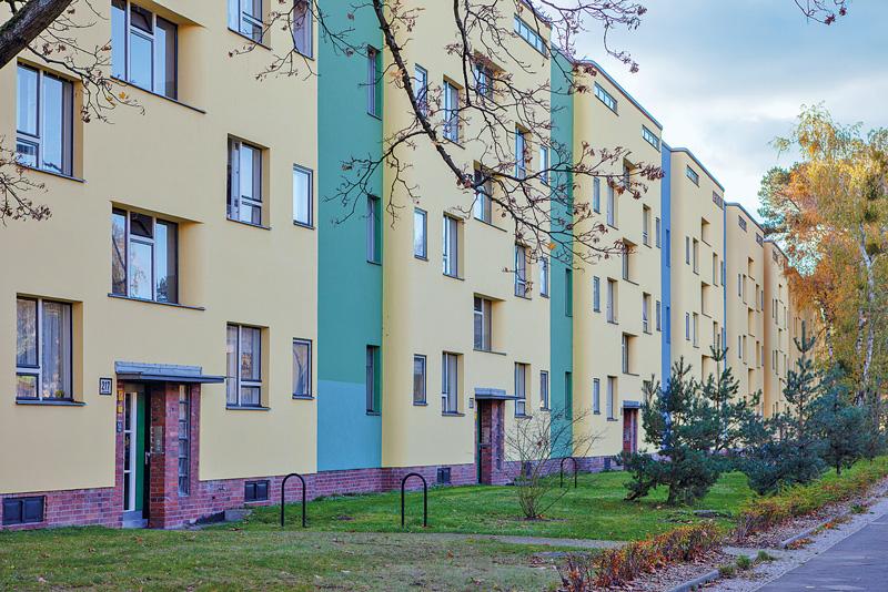 Farblich gestaltete Fassaden