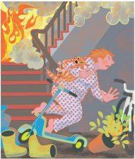 Illustration zu vollgestelltem Treppenhaus