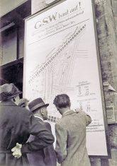 Ankündigungsplakat für ein Wohnbauprojekt der GSW 1949