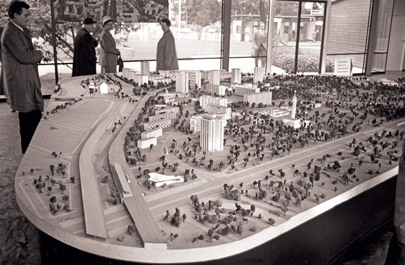 Modell für die Bebauung zur Interbau 1957