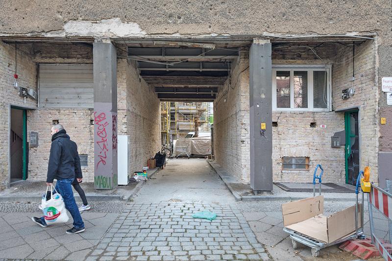 Marode Haussubstanz in der Grellstraße