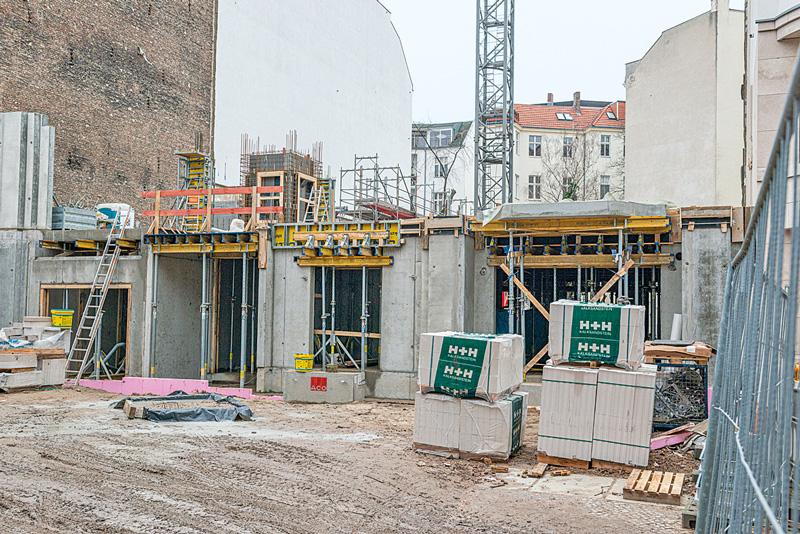 Baustelle Fasanenstraße 64
