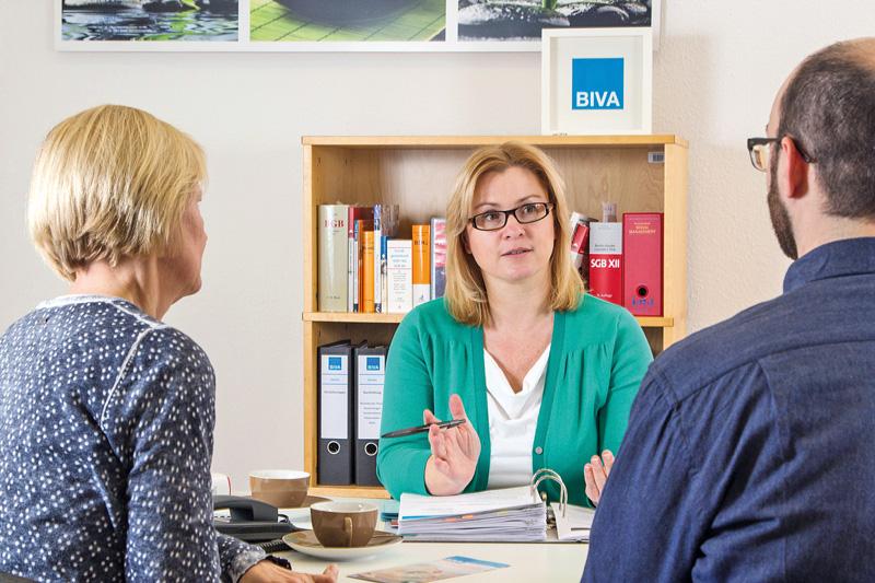 Ulrike Kempchen vom BIVA im Beratungsgespräch