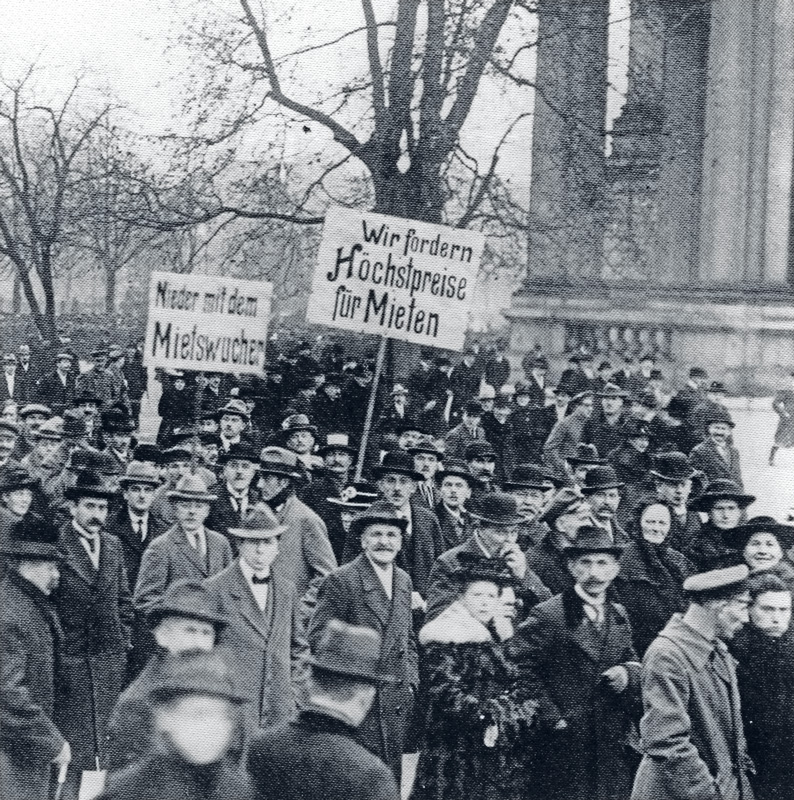 Mieter-Demonstration im Berliner Lustgarten 1922
