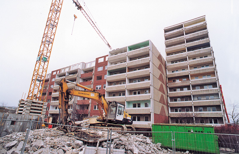 Abriss von Wohngebäuden