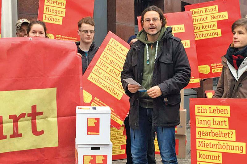 Mietentscheid-Protest in Frankfurt