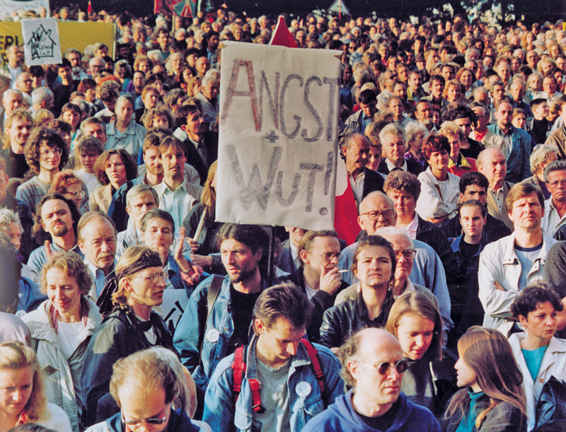 Mieterdemo 1992 in Ost-Berlin