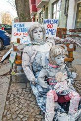 Kunst-Aktion gegen Mieterverdrängung