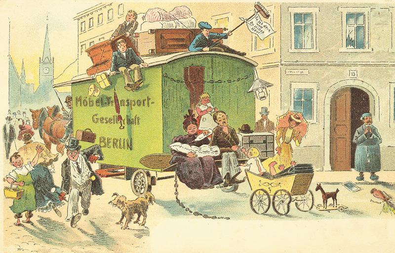 Historische Umzugs-Illustration