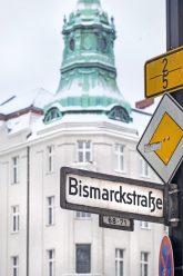 Straßenschild ,Bismarckstraße'