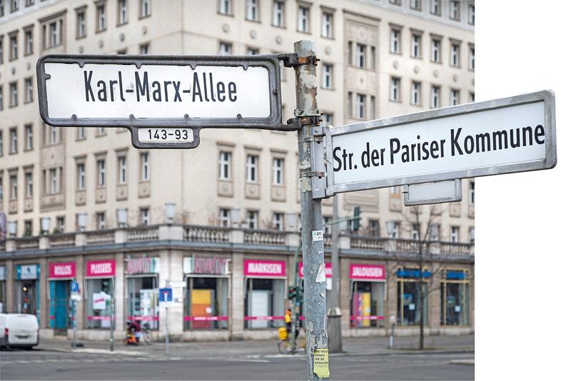 ,Karl-Marx-Allee' und ,Str. der Pariser Kommune'