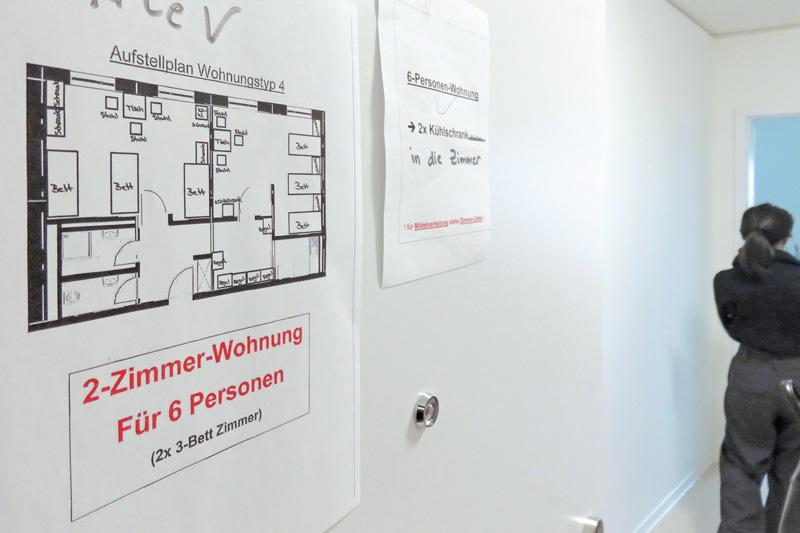 Grundriss einer 2-Zimmer-Wohnung für 6 Personen