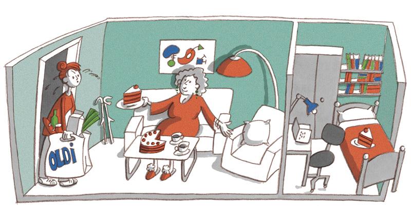 Illustration zum Zusammenleben von Jung und Alt