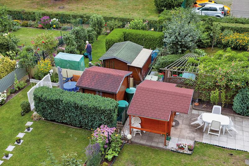 Kleingärten aus der Vogelperspektive