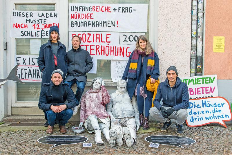 Protest mit Kunstfiguren