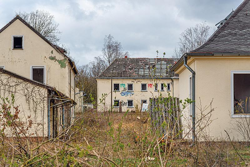 Verfallende Wohnhäuser