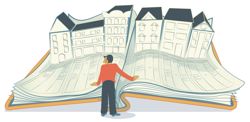 Illustration: Einsicht ins Grundbuch