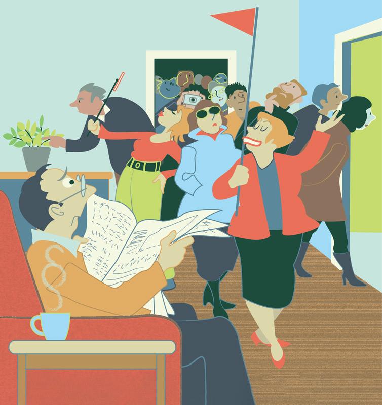 Illustration: Wohnungsbesichtigung