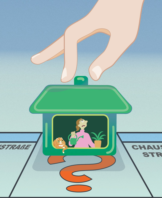 Illustration: Wohnungs-Monopoli