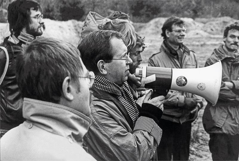 Edwin Massalsky als Vorkämpfer gegen die Tegeler Autobahn in den 1980er Jahren