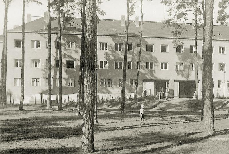 Historisches Foto der Wohnbebauung