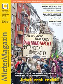 Titelseite MieterMagazin 6+7/2021