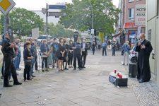 Kundgebung vor der SPD-Geschäftsstelle