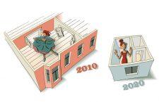Illustration zur Wohnflächenverkleinerung