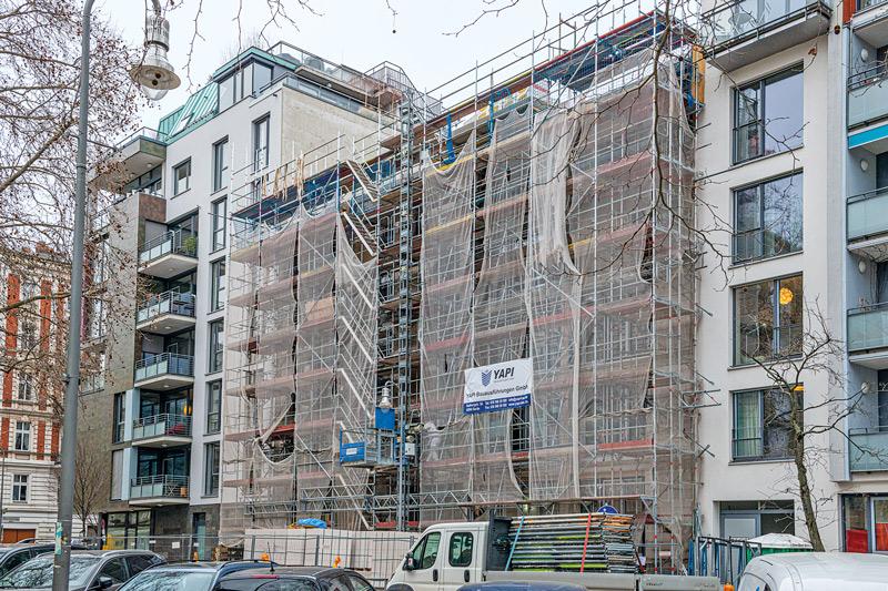 Baustelle Calvinstraße 21 heute
