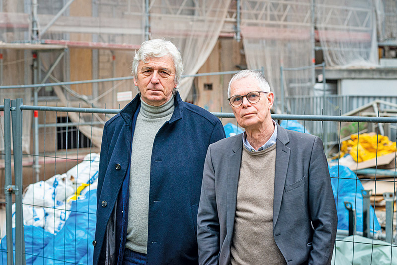 Letzter Mieter Czapara und Rechtsanwalt Müller