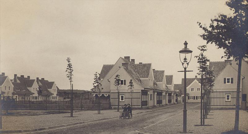 Historisches Foto der Siedlung