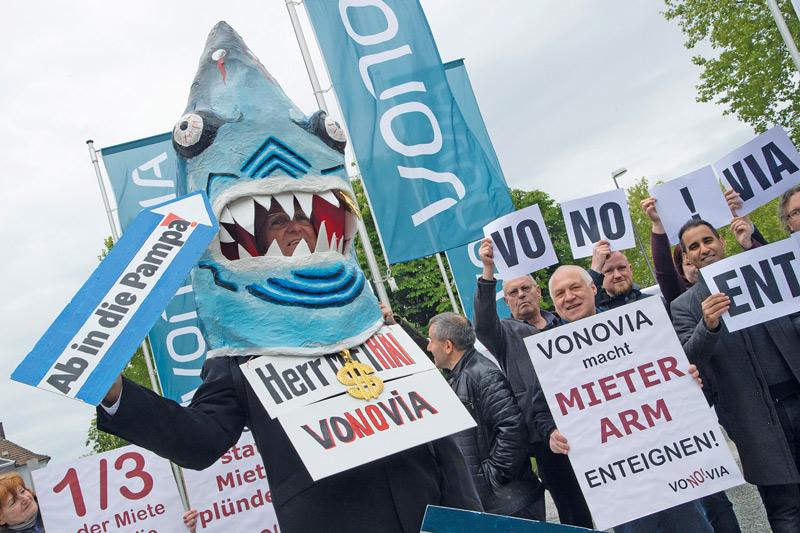 Demonstration gegen Mietwucher in Bochum