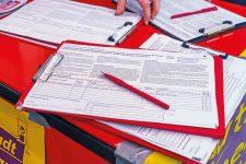 Unterschriftenlisten zum Volksentscheid