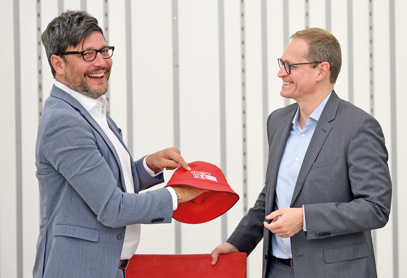 Justizsenator Behrendt und Michael Müller