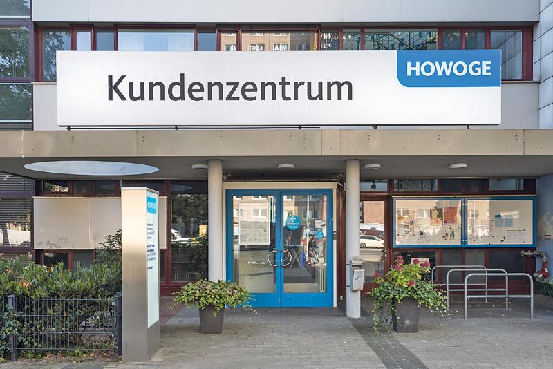 Eingangsbereich zum Kundenzentrum der Howoge