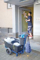 Hauseingangstür-Reinigung